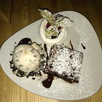Double Chocolate Brownie with Millionaire's Shortbread ice cream