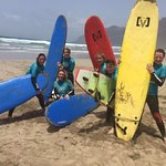 Brilliant day surfing to celebrate the year we all turn 40!