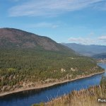 The mighty Columbia River in Trail, BC