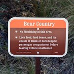 Watch your food, there are bears in the area