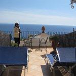 La terraza y la vista