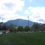 View of the Flatiron from CU campus
