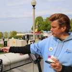 Here is Freddy hand feeding a red wing black bird on our tour. Cool!