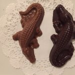 At the end of your dinner, you receive two chocolate crocodiles.