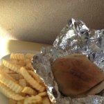 Beef kabob sandwich combo