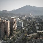 High rise condos, high-end homes and majestic Andes Mountain Range