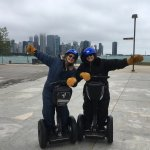 Having a blast on the Segway Experience!
