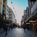 Early-morning Rundle Mall