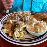Beef Stroganoff, slaw and bread - all delicious