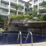 Pool area from ground floor rooms