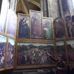Replica of the Ghent Altarpiece in a side chapel