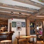 Newly refurbished pub showing the beautiful original beams
