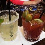 Margarita and Caesar cocktails