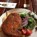 lunch Chicken Schnitzel served with chips and salad $21.90 Schnitzels come with a choice of the