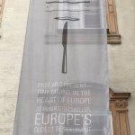 Banner from outside restaurant.