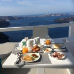 Breakfast is served on the balcony