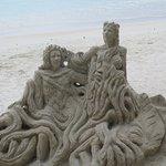 Sand Sculpture Pereybere Beach