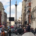 Nelson's column and Trafalgar Square, within four minutes walk