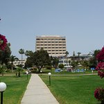 View of Hotel & grounds from beachfront walkway to Limassol