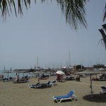 Hotel Beach & watersports area taken from walkway to Limassol