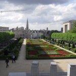 jardines en el centro de la capital belga..genial