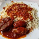delicious freshly prepared meat balls in red sauce