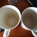The cups we received were this dirty from inside. Towels were dirty as well. Does not come upto