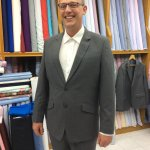 Cashmere wool suit wrinkle free fabric