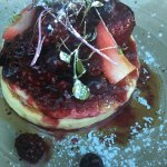 Pancakes with fruit (minus the ice cream)