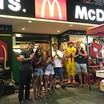 New friends with Ronald McDonald on Koh San Road