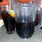 pop & tea with a small pitcher each - great idea