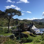 View from the rear of the property, overlooking the Ffestiniog hydro-electric reservoir