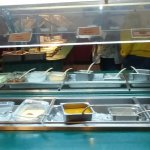 Chutneys and salads on buffet