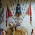 Lion in the stairwell of the house