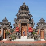 Traditional Balinese temple on resort