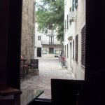 one of the alleyways into a square