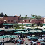 Daytime view to one corner of Jemaa el-Fnaa
