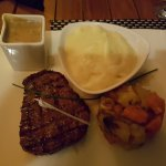 wagyu beef fillet, vegetable on side plus mash and creamy mushroom sauce