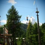 High up in the trees - with the Matterhorn in the background - © Forest Fun Park