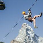 Zip line in front of the Matterhorn - © Forest Fun Park