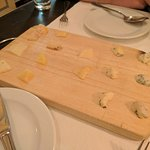 The cheese plate to end a fabulous meal