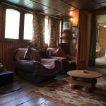 Our cosy living area inside the Cottage.