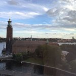 Great views from a high room overlooking Stockholm
