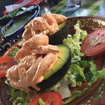 Shrimp-stuffed avocados. Amazing.