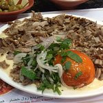 shawarma with hummus