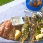 Lovely fish platter at Sunset beach restaurant