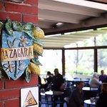 La Zagara crest, looking into dining room