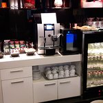 Coffee lounge drinks selection (great coffee machine!)