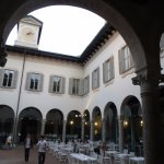 Restaurant is located in an inner courtyard