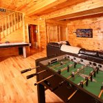 Smoky Mountain Majesty, Den with Air Hockey and Foosball